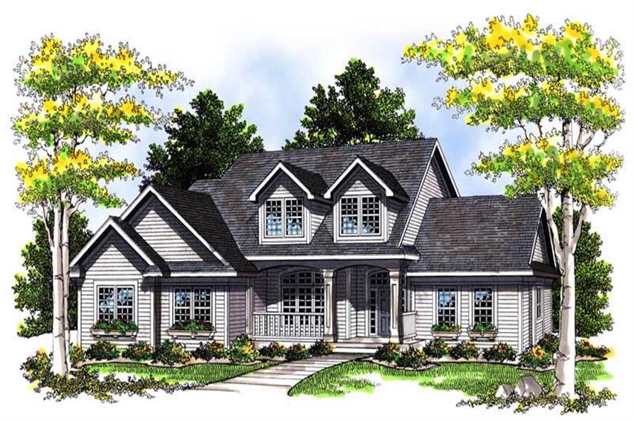Home Plan Rendering of this 3-Bedroom,2066 Sq Ft Plan -101-1540