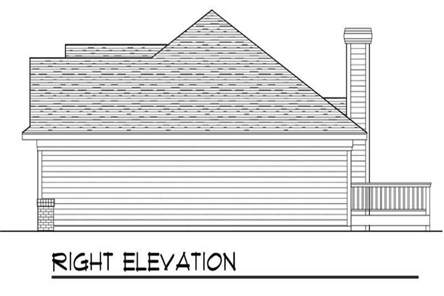 Home Plan Right Elevation of this 3-Bedroom,1461 Sq Ft Plan -101-1541