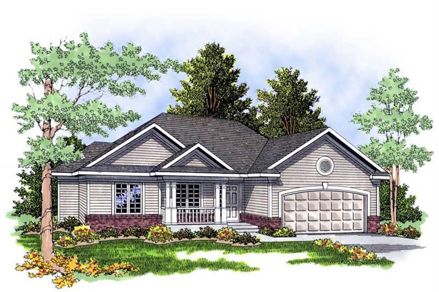 3-Bedroom, 1461 Sq Ft Country Home Plan - 101-1541 - Main Exterior