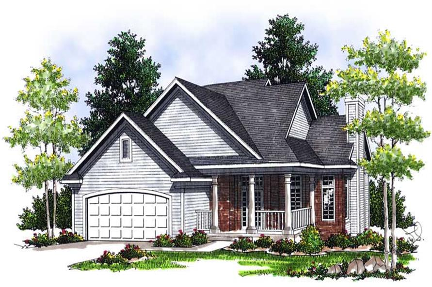 4-Bedroom, 1817 Sq Ft Bungalow House Plan - 101-1544 - Front Exterior