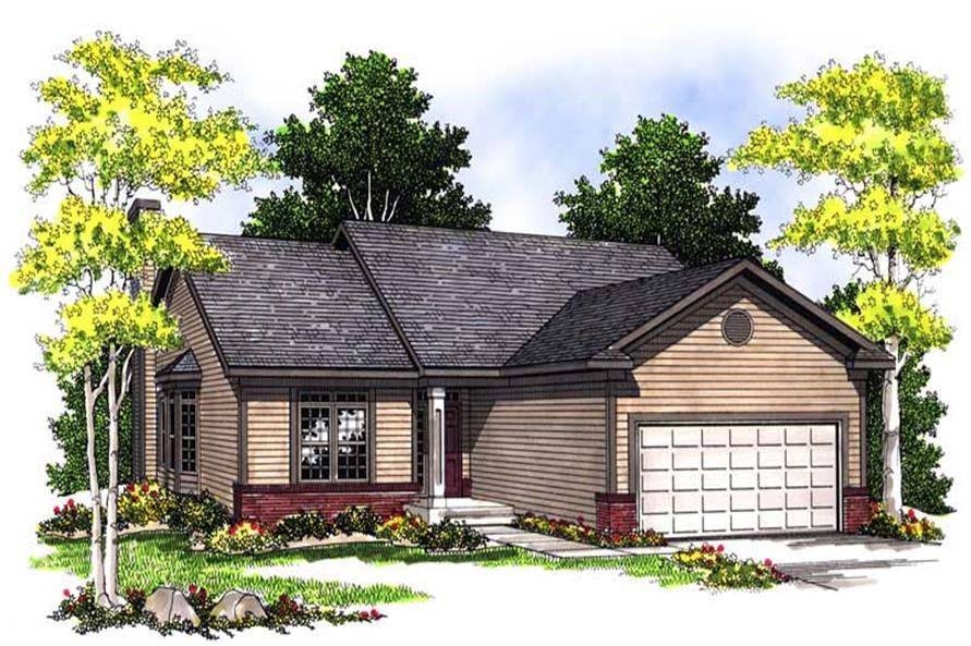 2-Bedroom, 1281 Sq Ft Ranch Home Plan - 101-1546 - Main Exterior