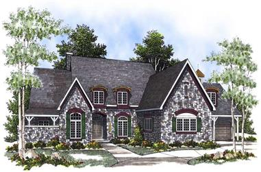 3-Bedroom, 4247 Sq Ft Country House Plan - 101-1547 - Front Exterior