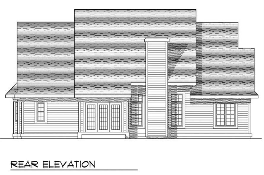 Home Plan Rear Elevation of this 3-Bedroom,1814 Sq Ft Plan -101-1549