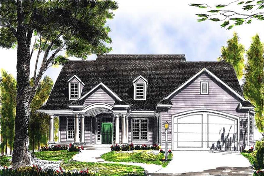 3-Bedroom, 1814 Sq Ft Colonial Home Plan - 101-1549 - Main Exterior