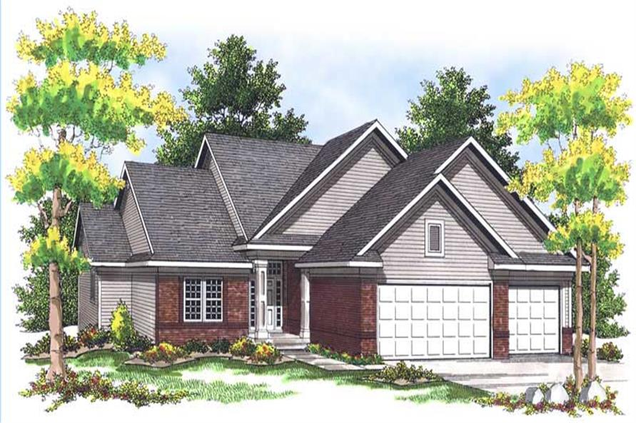 4-Bedroom, 2838 Sq Ft Bungalow House Plan - 101-1551 - Front Exterior