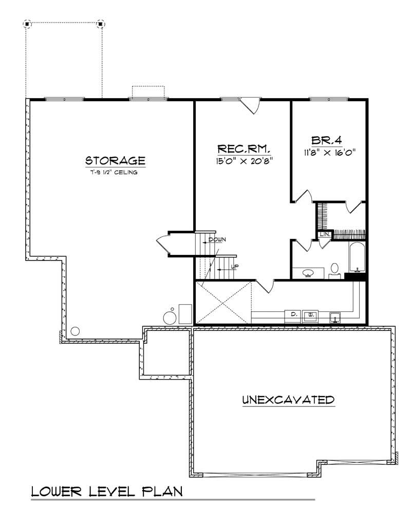 bungalow ranch home with 4 bdrms 2838 sq ft floor