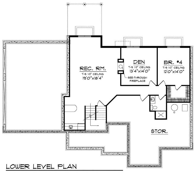 ranch home with 4 bdrms 2995 sq ft house plan 101 1554
