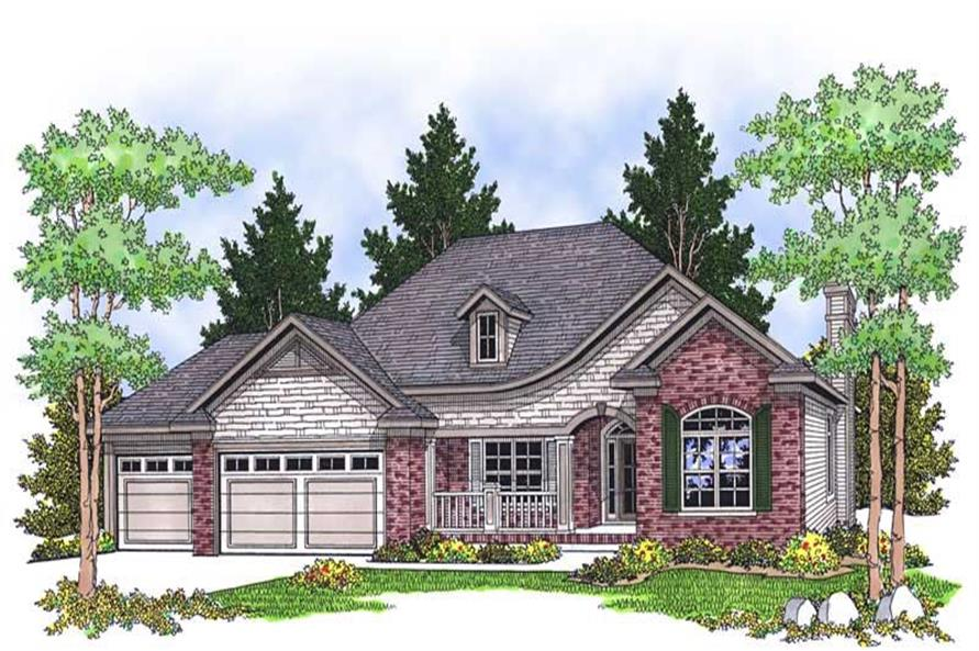 2-Bedroom, 1706 Sq Ft Ranch House Plan - 101-1555 - Front Exterior