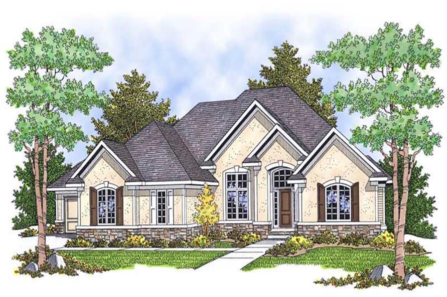 4-Bedroom, 3771 Sq Ft Ranch Home Plan - 101-1556 - Main Exterior