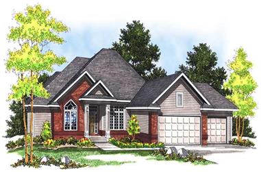 3-Bedroom, 3201 Sq Ft Ranch House Plan - 101-1559 - Front Exterior