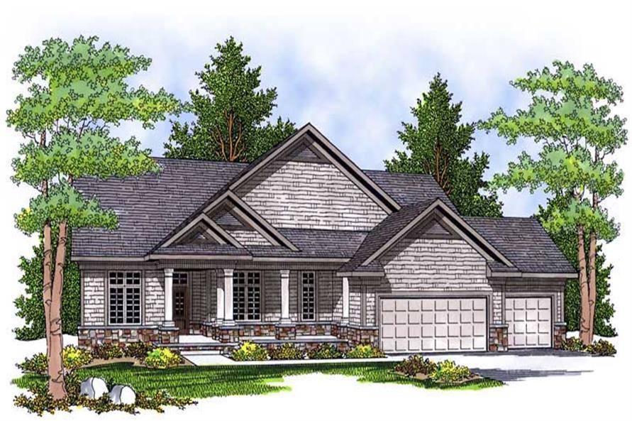 4-Bedroom, 3696 Sq Ft Ranch Home Plan - 101-1560 - Main Exterior
