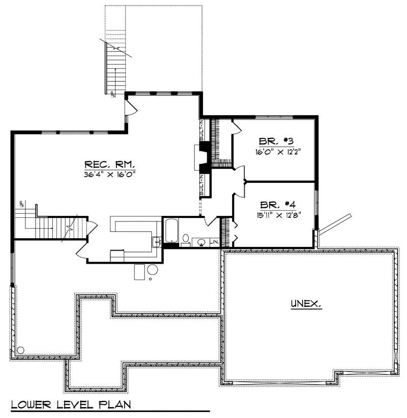 ranch home with 4 bdrms 3696 sq ft house plan 101 1560