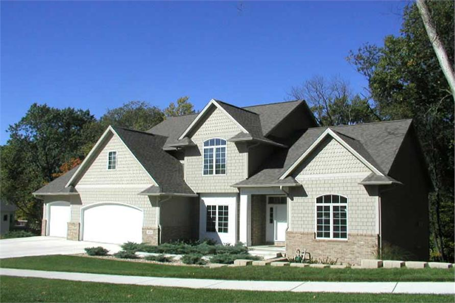 4-Bedroom, 2745 Sq Ft Traditional Home Plan - 101-1563 - Main Exterior
