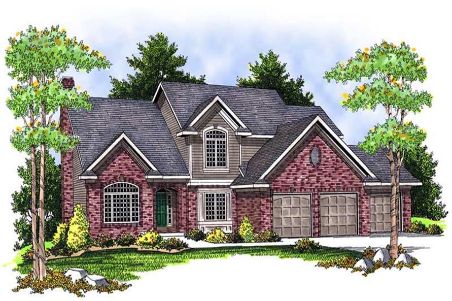 FRONT ELEVATION of this 4-Bedroom,2745 Sq Ft Plan -2745