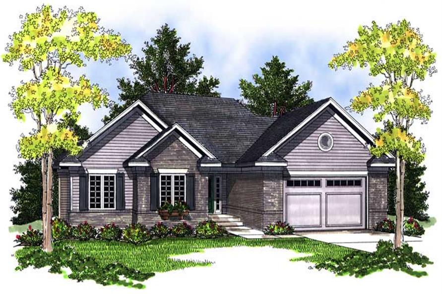 3-Bedroom, 1844 Sq Ft Ranch House Plan - 101-1566 - Front Exterior