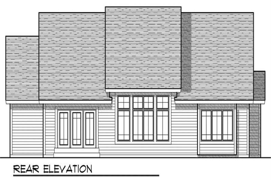 Home Plan Rear Elevation of this 3-Bedroom,1844 Sq Ft Plan -101-1567