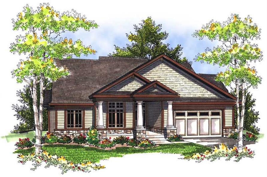 3-Bedroom, 1844 Sq Ft Ranch House Plan - 101-1567 - Front Exterior