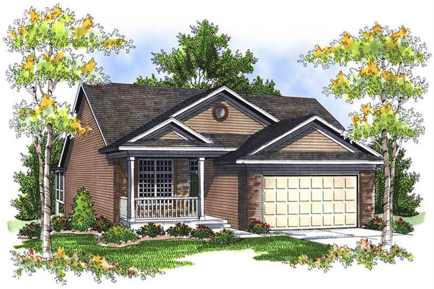 3-Bedroom, 1918 Sq Ft Bungalow House Plan - 101-1568 - Front Exterior