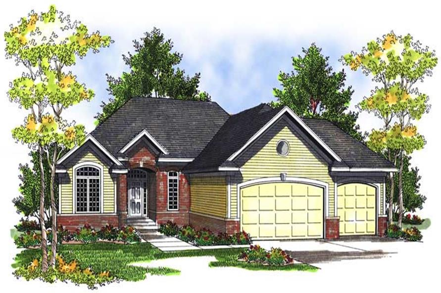 4-Bedroom, 2524 Sq Ft Ranch House Plan - 101-1569 - Front Exterior