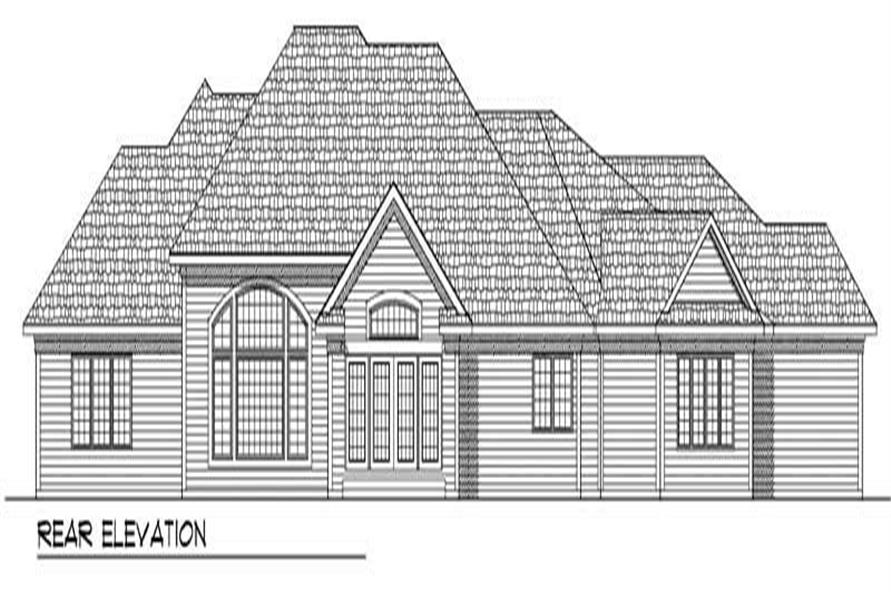 Home Plan Rear Elevation of this 3-Bedroom,3174 Sq Ft Plan -101-1574