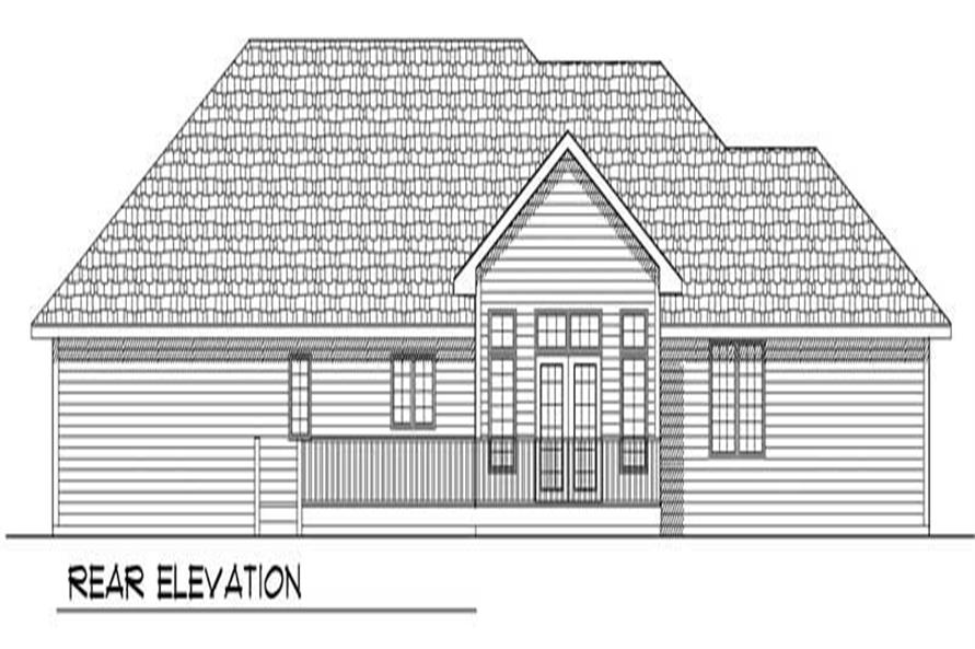 Home Plan Rear Elevation of this 3-Bedroom,1843 Sq Ft Plan -101-1575