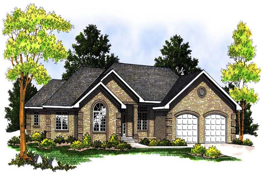 3-Bedroom, 1843 Sq Ft Ranch Home Plan - 101-1575 - Main Exterior