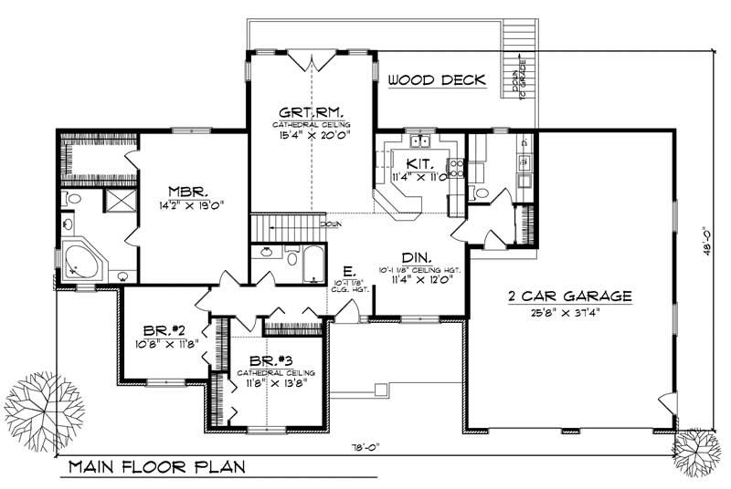 Ranch Home With 3 Bdrms 1843 Sq Ft House Plan 101 1575
