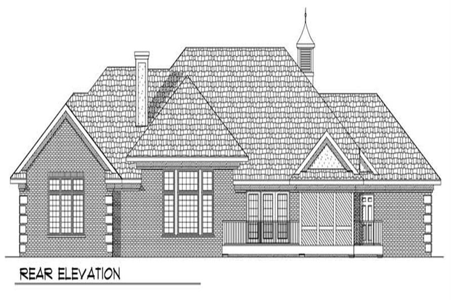 Home Plan Rear Elevation of this 3-Bedroom,2213 Sq Ft Plan -101-1592