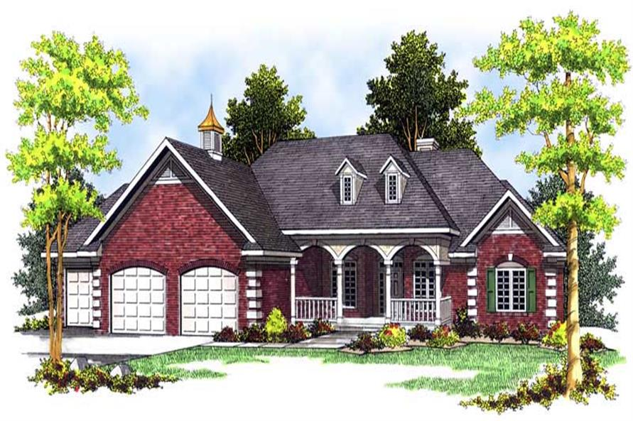 Home Plan Rendering of this 3-Bedroom,2213 Sq Ft Plan -101-1592