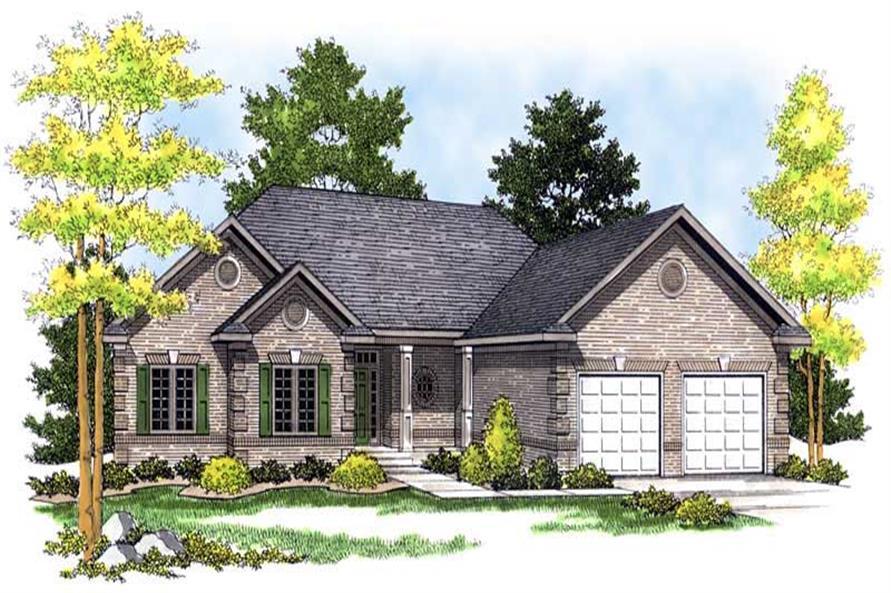 3-Bedroom, 1617 Sq Ft Ranch Home Plan - 101-1594 - Main Exterior