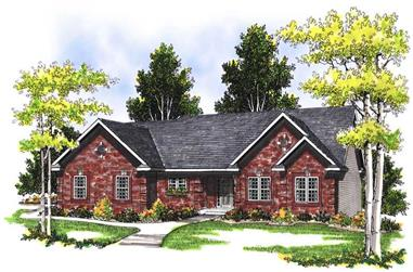 4-Bedroom, 2590 Sq Ft Ranch House Plan - 101-1601 - Front Exterior