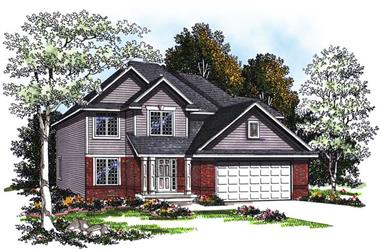 4-Bedroom, 2354 Sq Ft Country Home Plan - 101-1602 - Main Exterior