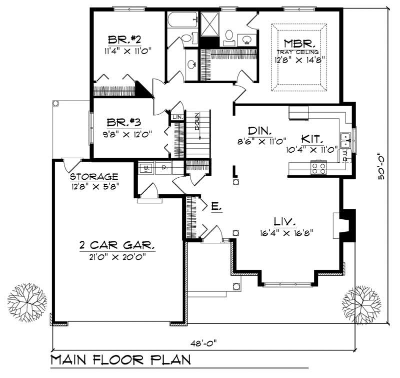 House Design 101: Bungalow - Small Home With 3 Bdrms, 1481 Sq Ft