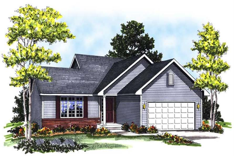 3-Bedroom, 1370 Sq Ft Ranch Home Plan - 101-1606 - Main Exterior
