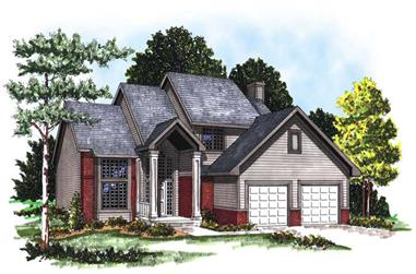 3-Bedroom, 2262 Sq Ft Colonial Home Plan - 101-1607 - Main Exterior