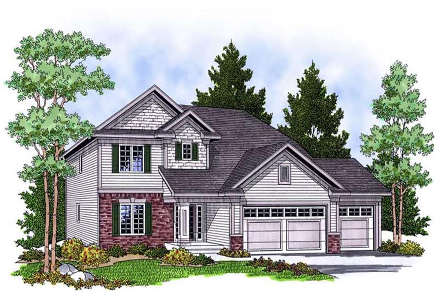 4-Bedroom, 2382 Sq Ft Craftsman Home Plan - 101-1609 - Main Exterior