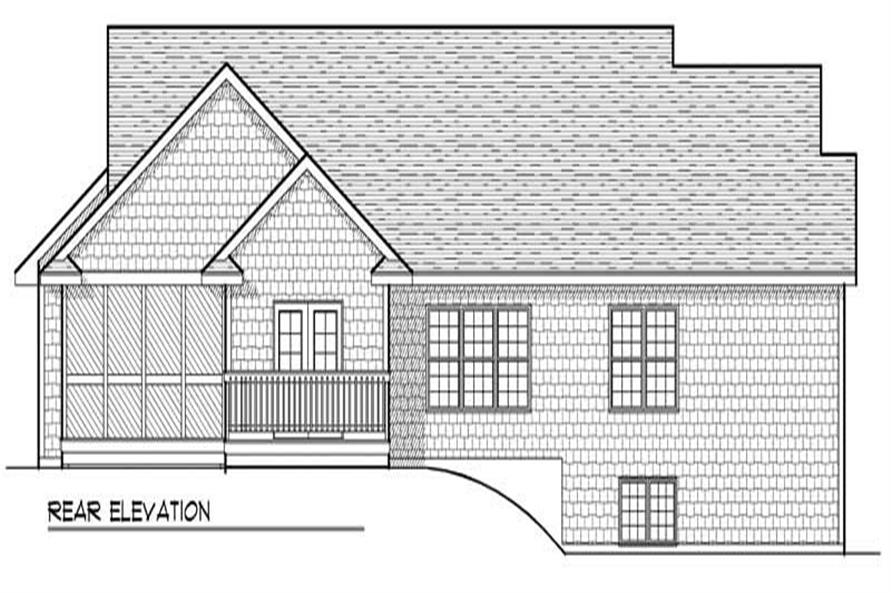 Home Plan Rear Elevation of this 3-Bedroom,1922 Sq Ft Plan -101-1610