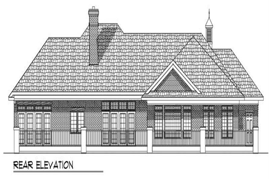 Home Plan Rear Elevation of this 2-Bedroom,2518 Sq Ft Plan -101-1611