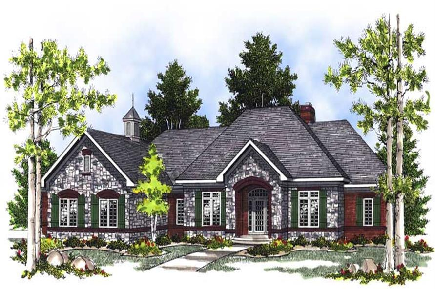 2-Bedroom, 2518 Sq Ft European Home Plan - 101-1611 - Main Exterior