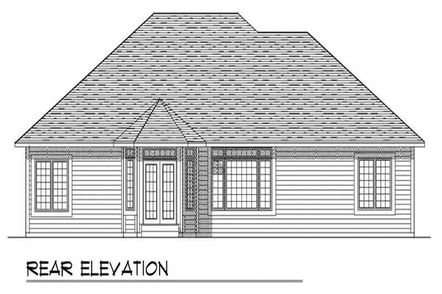 Home Plan Rear Elevation of this 3-Bedroom,1817 Sq Ft Plan -101-1612