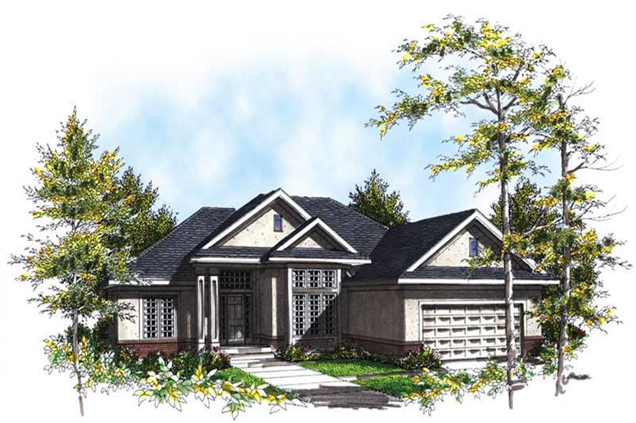 3-Bedroom, 1817 Sq Ft Ranch House Plan - 101-1612 - Front Exterior