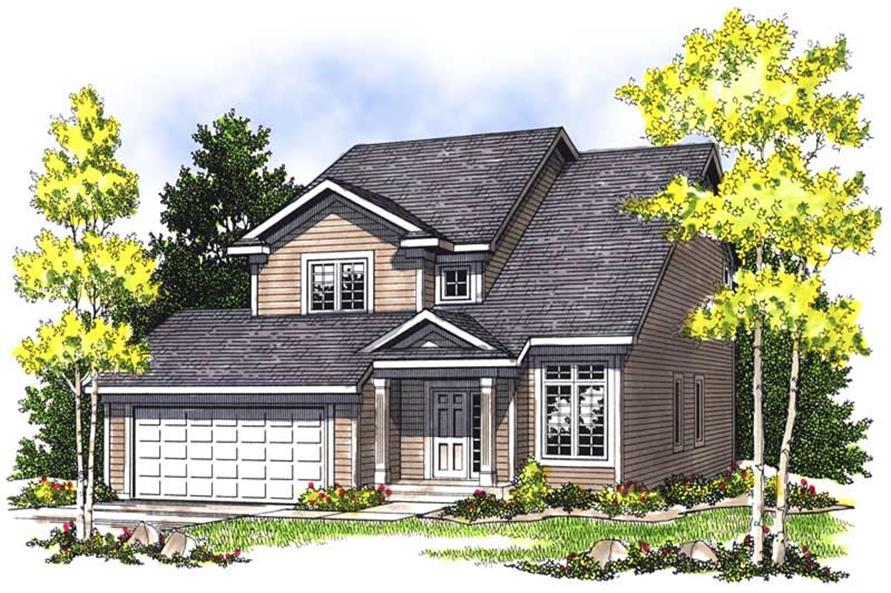 3-Bedroom, 1585 Sq Ft Craftsman House Plan - 101-1613 - Front Exterior