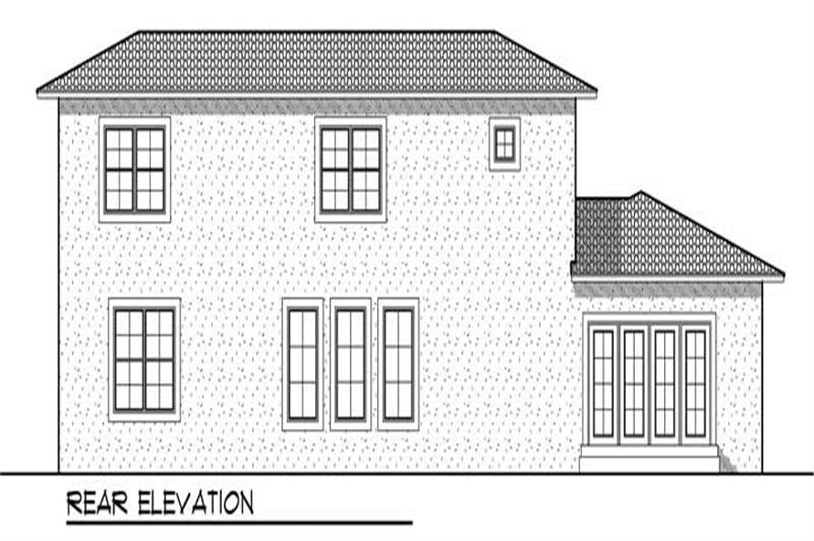 Home Plan Rear Elevation of this 4-Bedroom,3101 Sq Ft Plan -101-1616