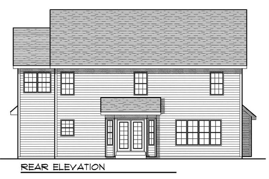 Home Plan Rear Elevation of this 4-Bedroom,2477 Sq Ft Plan -101-1617