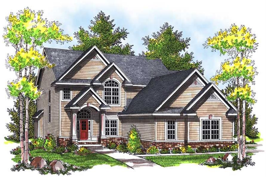 4-Bedroom, 2477 Sq Ft Craftsman House Plan - 101-1617 - Front Exterior