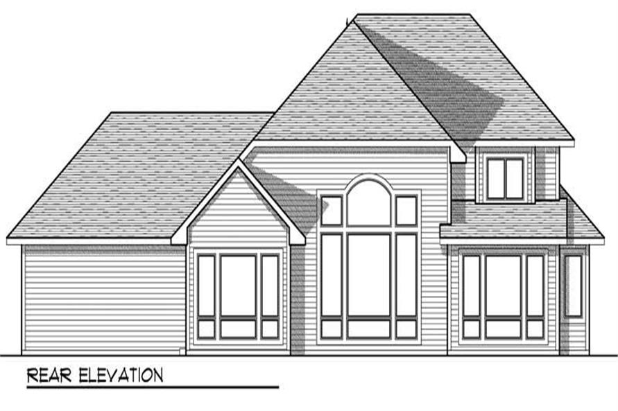 Home Plan Rear Elevation of this 3-Bedroom,2656 Sq Ft Plan -101-1619