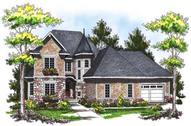 3-Bedroom, 2656 Sq Ft French Home Plan - 101-1619 - Main Exterior
