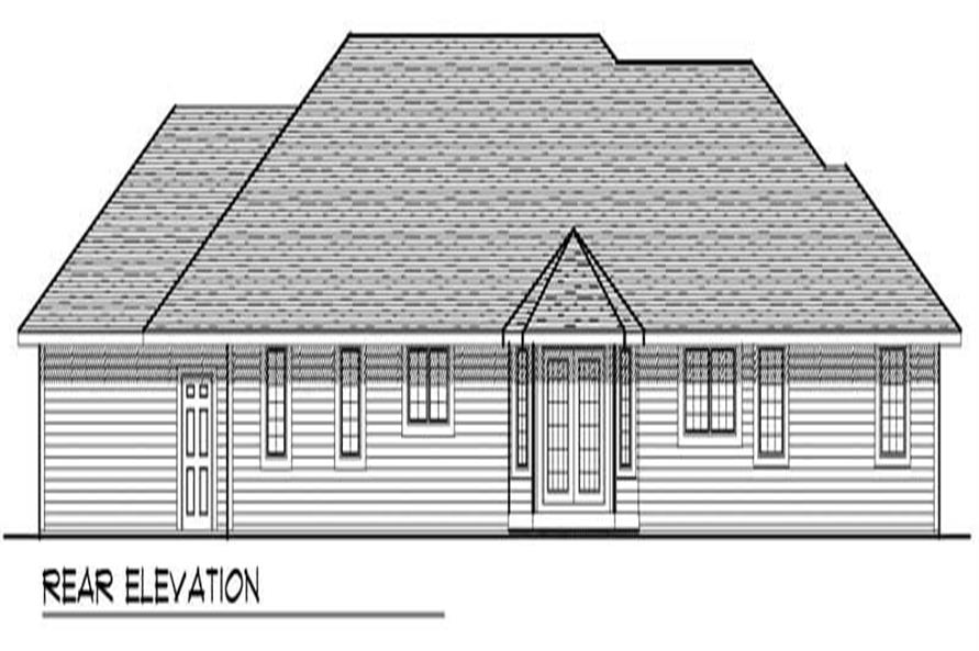 Home Plan Rear Elevation of this 2-Bedroom,1988 Sq Ft Plan -101-1622
