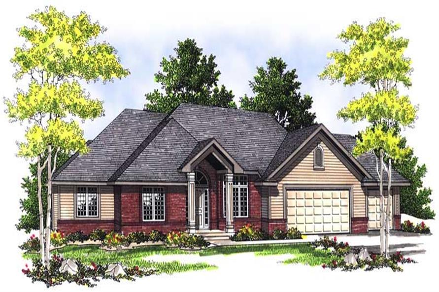 2-Bedroom, 1988 Sq Ft Ranch Home Plan - 101-1622 - Main Exterior