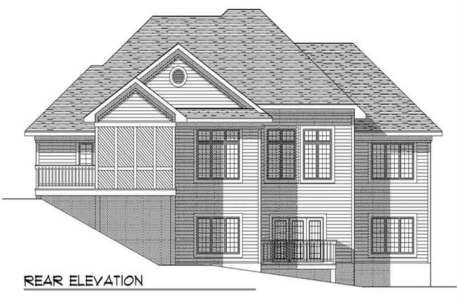 Home Plan Rear Elevation of this 3-Bedroom,2232 Sq Ft Plan -101-1627